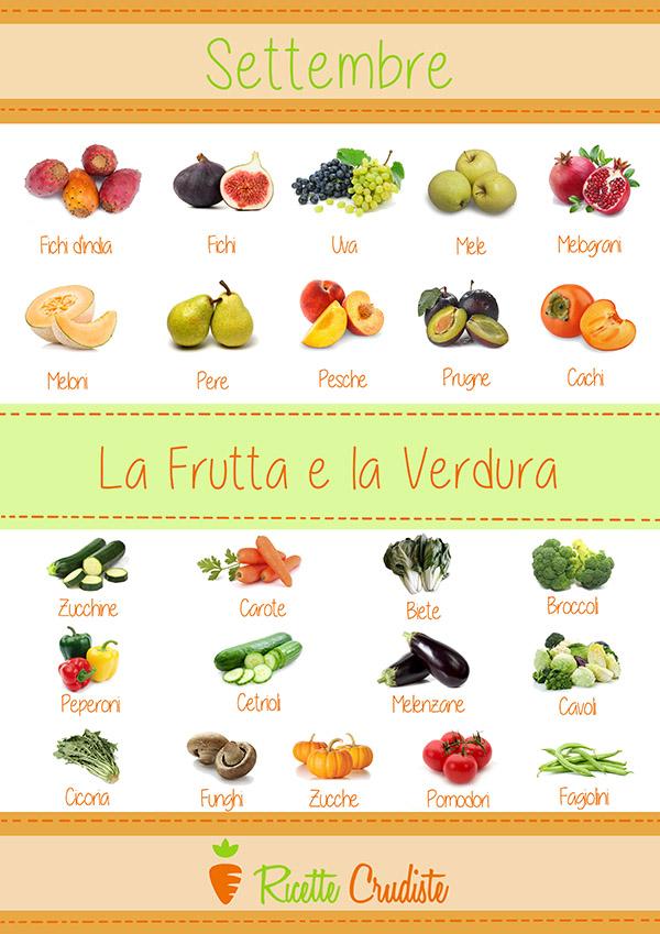 Infografica della Frutta verdura di settembre